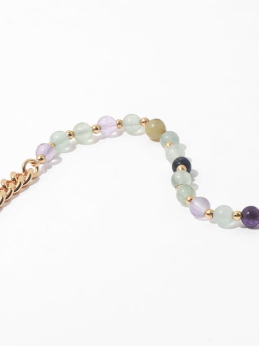 TINGS Brass Freshwater Pearl   Natural stone Hip Hop Necklace 4