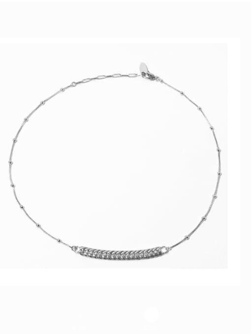 Bead Necklace Brass Geometric Vintage Necklace
