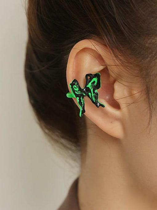 ACCA Brass Enamel Butterfly Minimalist Single Earring 2