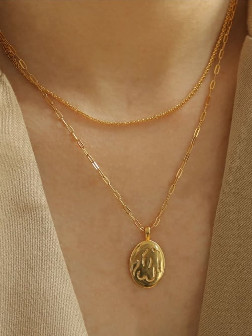 ACCA Brass Geometric Vintage Fashion abstract Human body Pendant Necklace 1
