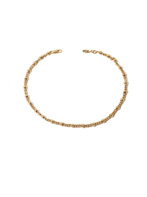 golden Brass Geometric Hip Hop Necklace