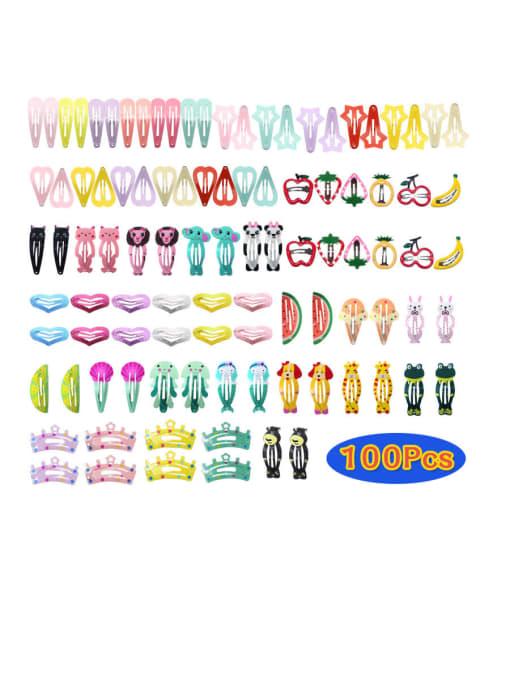 100PCS 1 Alloy Enamel Cute Water Drop  Hair Barrette