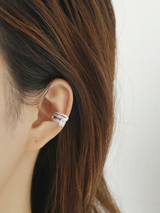 ACCA Brass Cubic Zirconia Geometric Classic Stud Earring 1