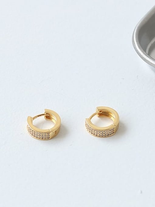ACCA Brass Cubic Zirconia Geometric Vintage Huggie Earring(ONLY ONE PCS) 2