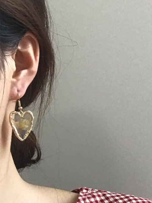 Five Color Alloy Heart Bohemia Hook Earring 1