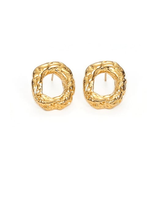 Circle Earrings Brass Geometric Vintage Drop Earring