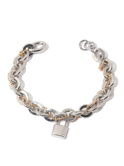 TINGS Brass Geometric Vintage Link Bracelet 0