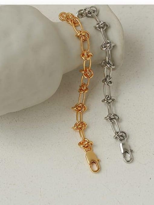 ACCA Brass Hollow Geometric Chain Hip Hop Link Bracelet 3