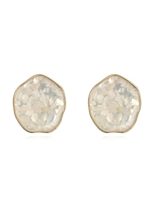 HYACINTH Brass Resin Geometric Ethnic Stud Earring