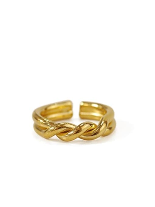 ACCA Brass Irregular Vintage Twist Midi Ring 2