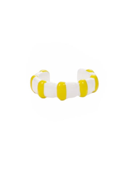 Section 8 (No. 6 and No. 7) Zinc Alloy Enamel Heart Minimalist Band Ring