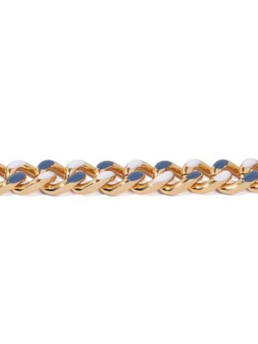 ACCA Brass Geometric Vintage Link Bracelet 2