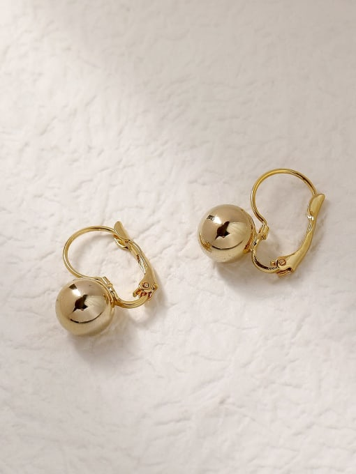HYACINTH Brass Ball Vintage Hook Trend Korean Fashion Earring 0