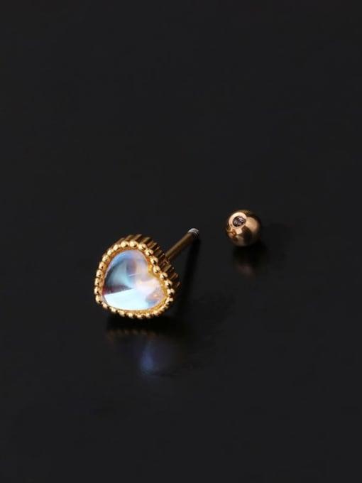 HISON Brass Opal Ball Hip Hop Stud Earring 1