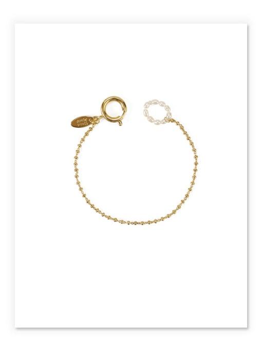 golden Brass Bead Geometric Vintage Beaded Bracelet