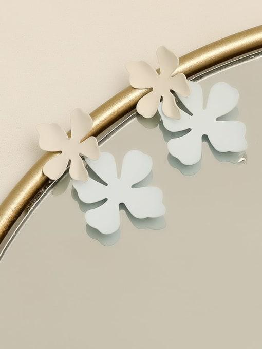 HYACINTH Brass smooth Flower Minimalist Drop Earring 2