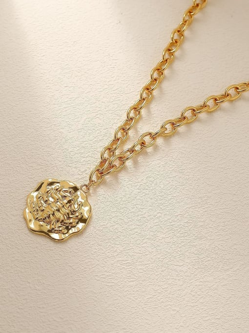 HYACINTH Brass Vintage Geometric Pendnat Trend Korean Fashion Necklace 0