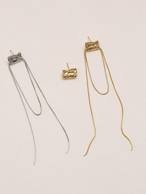 HYACINTH Brass Tassel Vintage Drop Earring
