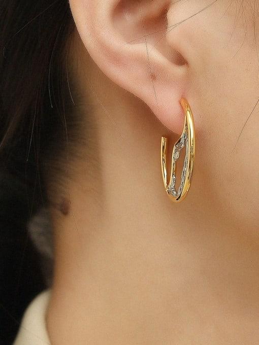 HYACINTH Brass Geometric Vintage Drop Earring 1
