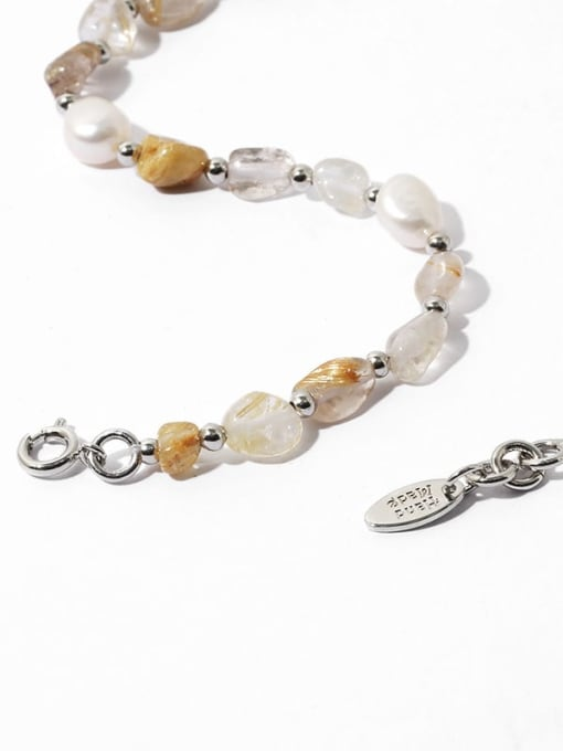 TINGS Brass Freshwater Pearl Geometric Vintage Necklace 2