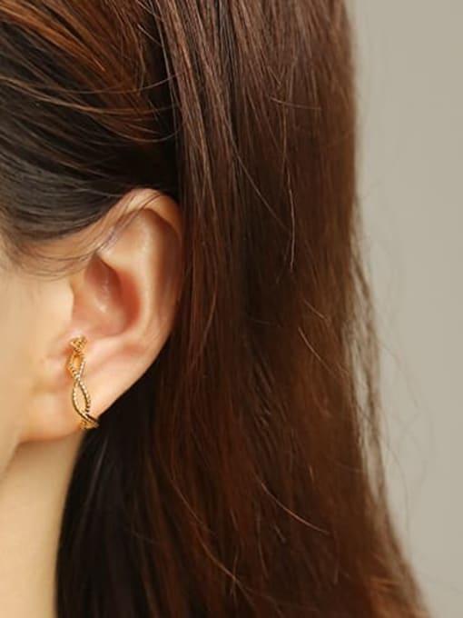 ACCA Brass Hollow Geometric Minimalist Clip Earring (Single) 1