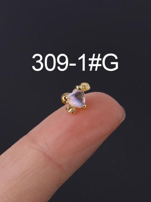 1 gold Single Brass Cubic Zirconia Geometric Hip Hop Chandelier Earring