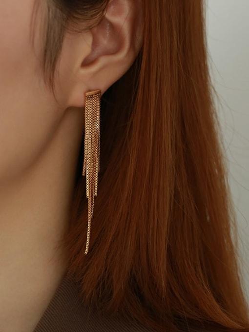 Five Color Brass Tassel Vintage Drop Earring 1