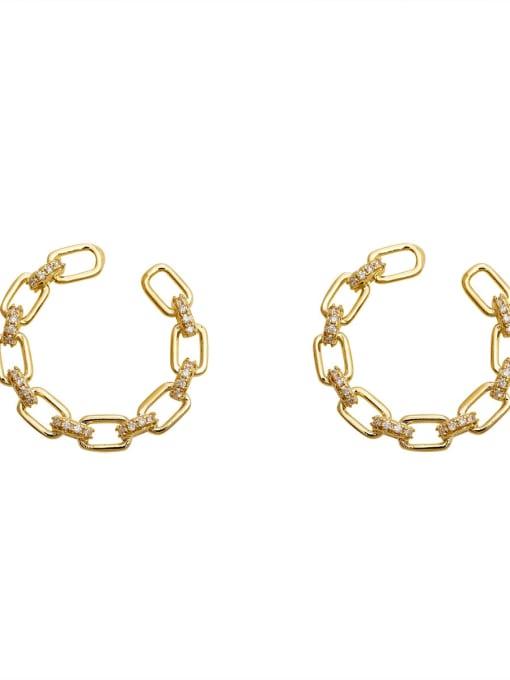 HYACINTH Copper Cubic Zirconia Geometric Minimalist Stud Earring 0