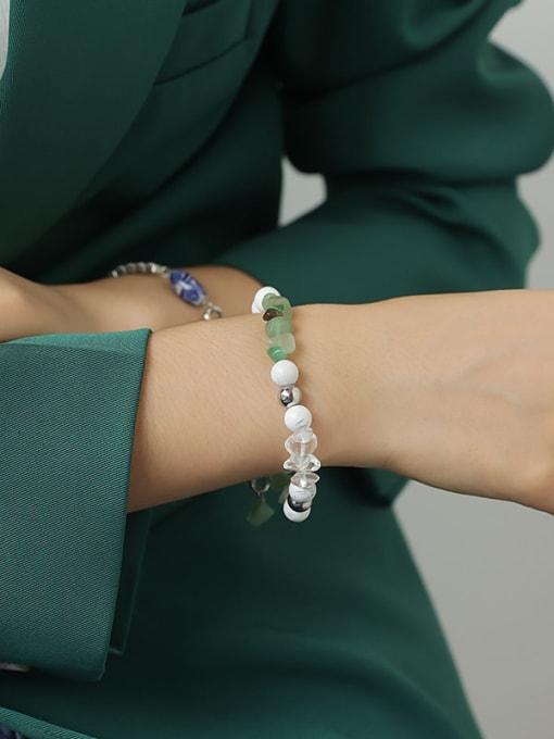 TINGS Brass Imitation Pearl Geometric Hip Hop Beaded Bracelet 1