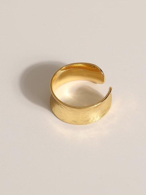 JZ104 Brass Geometric Vintage Band Ring