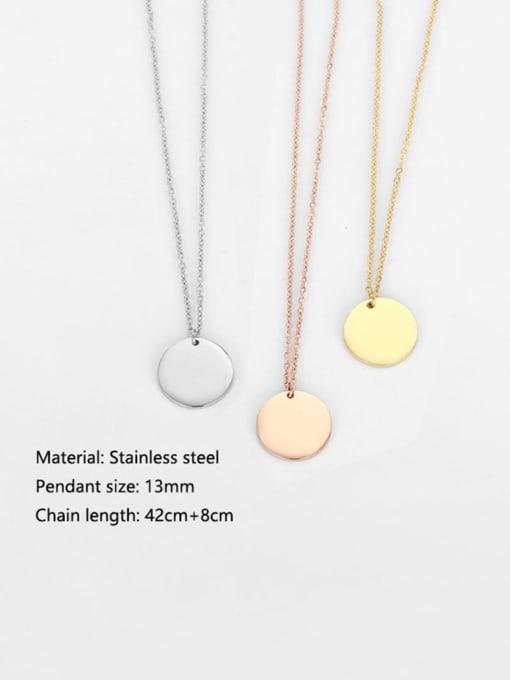 Desoto Stainless steel Constellation Minimalist Round Pendant Necklace 3