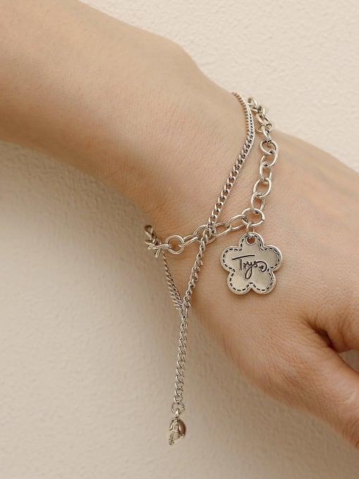 HYACINTH Brass Hollow  Geometric Chain Vintage Strand Bracelet 2
