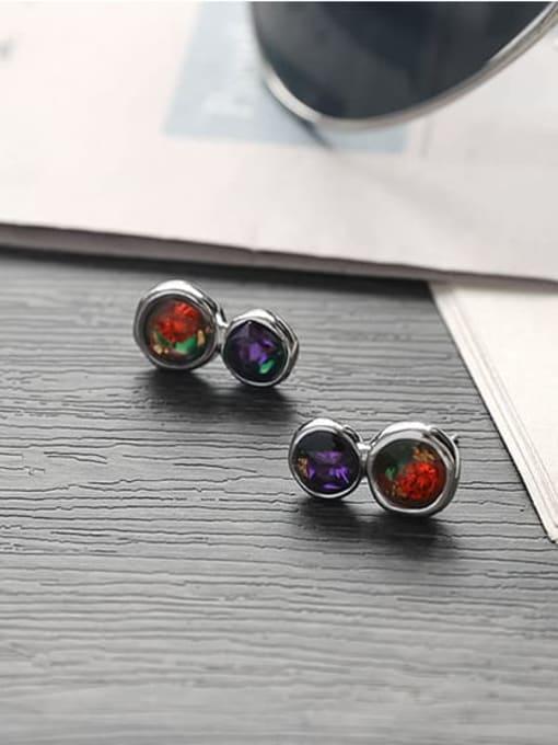 TINGS Brass Rhinestone Geometric Vintage Drop Earring