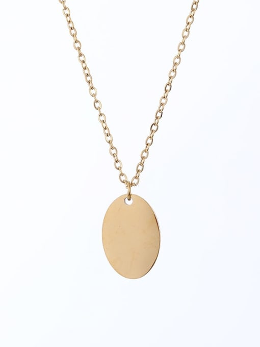 Desoto Stainless steel Geometric Minimalist  Trpe Lettering  Necklace 3