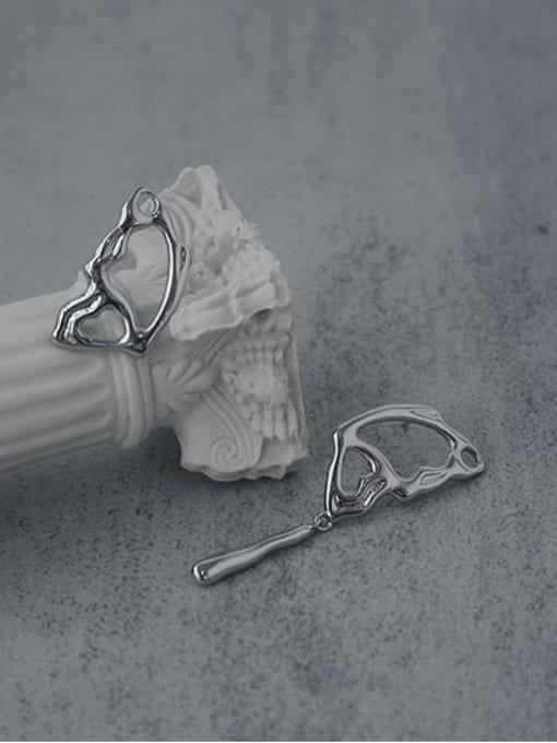 TINGS Brass Asymmetric  Wing Vintage Stud Earring 0
