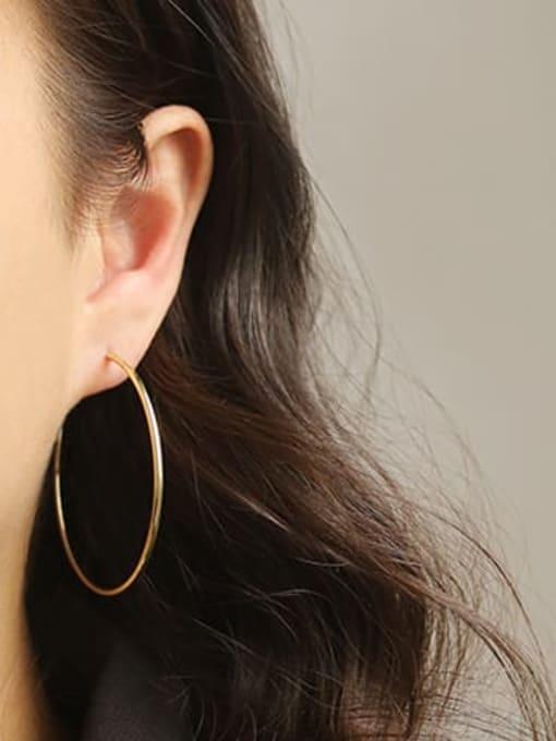 ACCA Brass Geometric Minimalist Hoop Earring 1