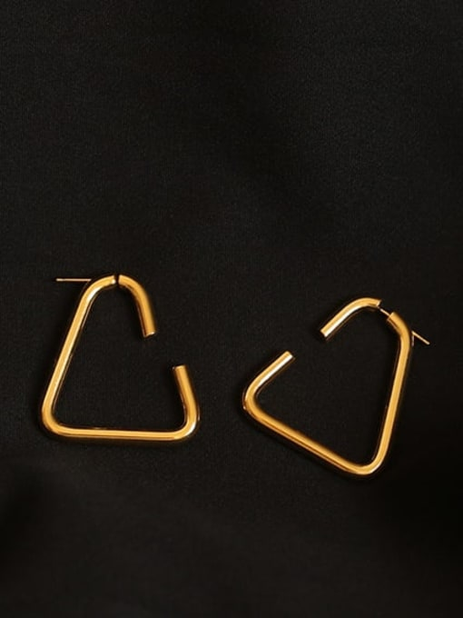 ACCA Brass Geometric Minimalist Stud Earring