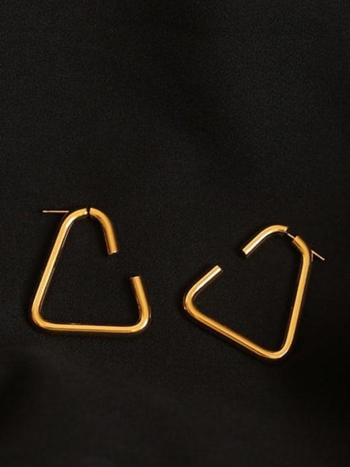 Triangular stud Brass Geometric Minimalist Stud Earring