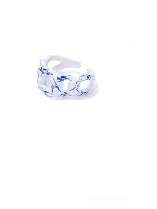 ACCA Zinc Alloy Enamel Geometric Minimalist Band Ring 0