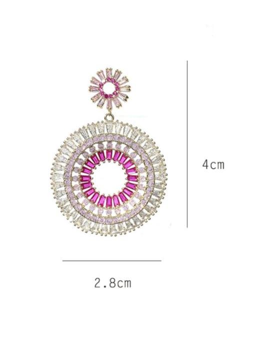 SUUTO Brass Cubic Zirconia Geometric Luxury Drop Earring 1