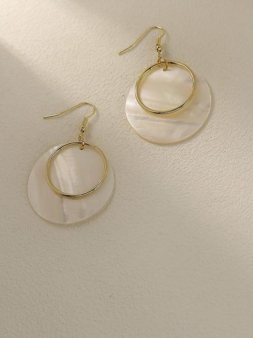HYACINTH Brass Shell Geometric Minimalist Drop Trend Korean Fashion Earring 3