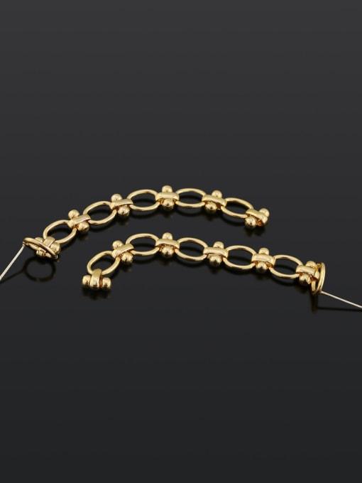 18K gold Brass Tassel Hip Hop Drop Earring