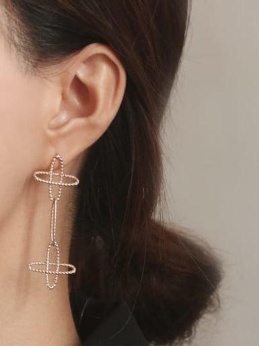 ACCA Brass  Vintage Asymmetric star Drop Earring 0