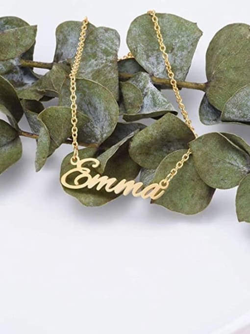 Desoto Custom Titanium Steel Name necklace