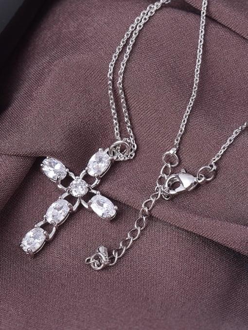 YILLIN Brass Cubic Zirconia Minimalist Regligious Necklace 1