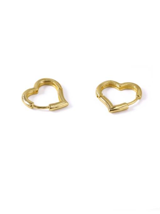 ACCA Brass Hollow Heart Minimalist Stud Earring 1