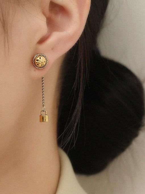 HYACINTH Brass Tassel Vintage Drop Trend Korean Fashion Earring 1