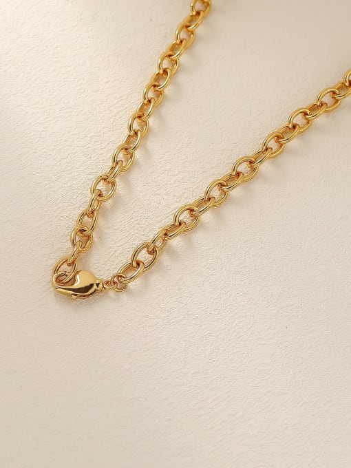 HYACINTH Brass Vintage Geometric Pendnat Trend Korean Fashion Necklace 2