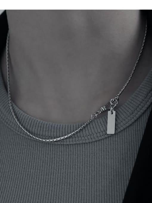 TINGS Brass Letter Tassel  Vintage Necklace 1