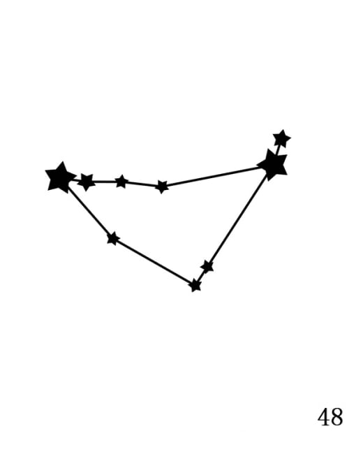 Rose Gold XZ 48 Capricorn Stainless steel Constellation Minimalist  geometry Pendant Necklace